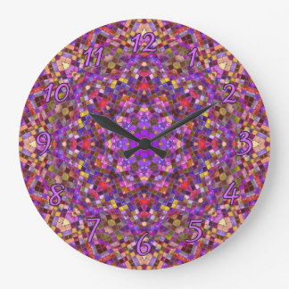 Tile Style Pattern  Clock, square or round Large Clock