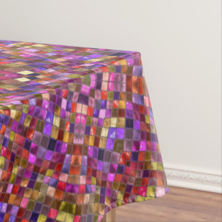 Tile Style Pattern Custom Cotton Tablecloths