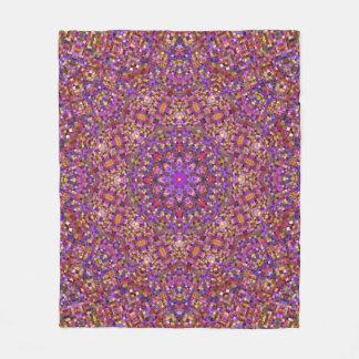 Tile Style Pattern Custom Fleece Blanket, 3 sizes