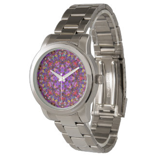 Tile Style Pattern  Vintage Mens Watch