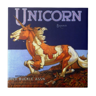 Tile Trivet Vintage Kitchen Can Labels Unicorn