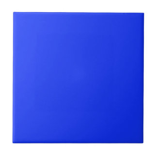 Tile with Bright Neon Blue Background