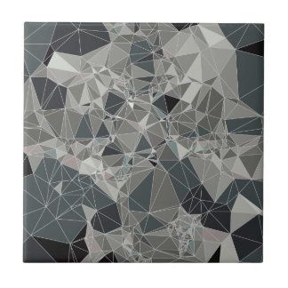 Tile with gray geometric pattern