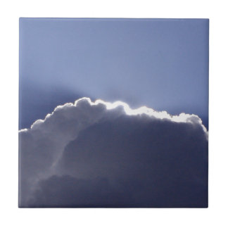 tile with photo of cloud with silver lining