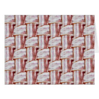 Tiled Bacon Weave Pattern Big Greeting Card
