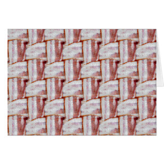 Tiled Bacon Weave Pattern Greeting Card
