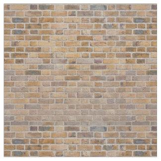 Tiled Brick Wall Urban Texture Pattern Fabric
