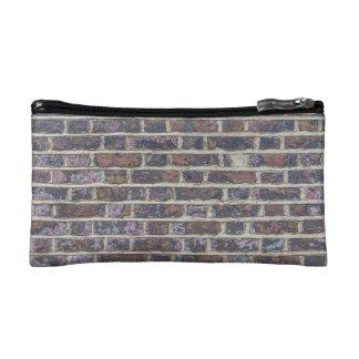 Tiled Brick Wall Urban Texture Pattern Makeup Bag
