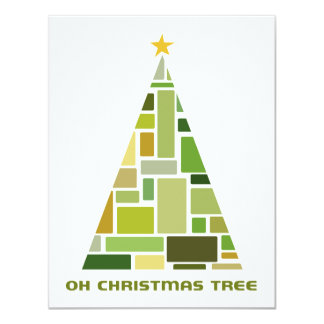 Tiled Christmas Tree Custom Invitations