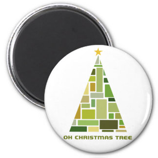 Tiled Christmas Tree Refrigerator Magnets