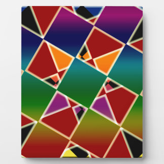 Tiled Colorful Squared Pattern Display Plaques