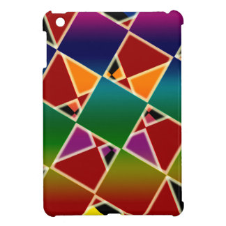 Tiled Colorful Squared Pattern iPad Mini Covers