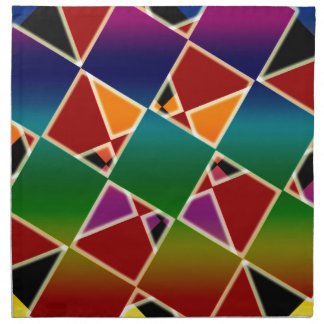 Tiled Colorful Squared Pattern Napkin