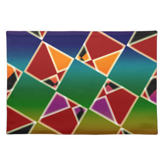 Tiled Colorful Squared Pattern Placemat