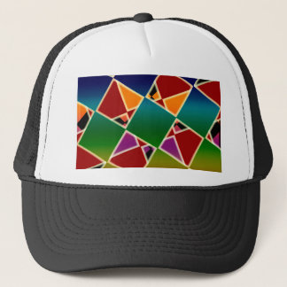 Tiled Colorful Squared Pattern Trucker Hat
