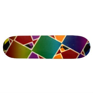 Tiled Colorful Squared Skateboard Deck