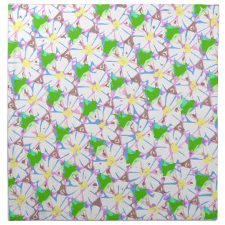 tiled daisies napkin