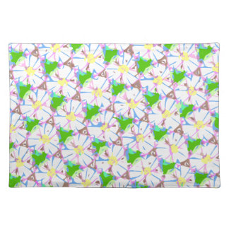 tiled daisies placemat