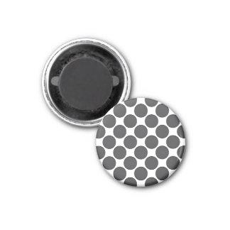 Tiled DarkGrey Dots 3 Cm Round Magnet