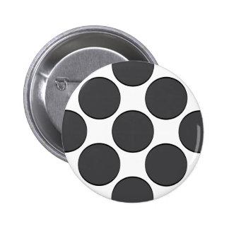 Tiled DarkGrey Dots 6 Cm Round Badge