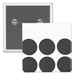 Tiled DarkGrey Dots 15 Cm Square Badge