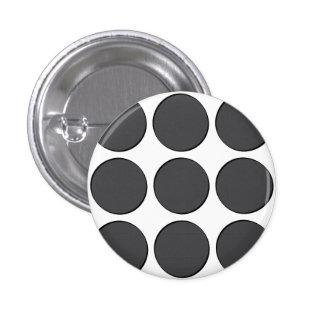 Tiled DarkGrey Dots 3 Cm Round Badge