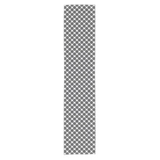 Tiled DarkGrey Dots Short Table Runner