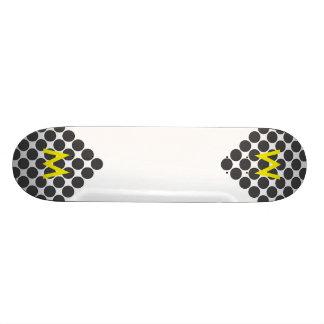 Tiled DarkGrey Dots Skate Boards