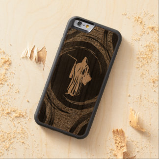 Tiled Grim Reaper Carved Cherry iPhone 6 Bumper Case