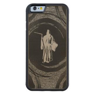 Tiled Grim Reaper Carved Maple iPhone 6 Bumper Case