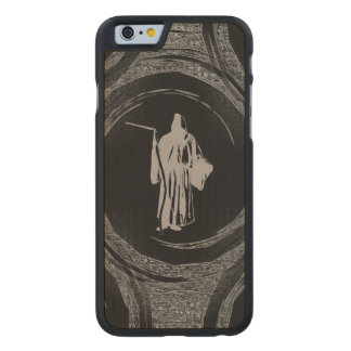 Tiled Grim Reaper Carved Maple iPhone 6 Case