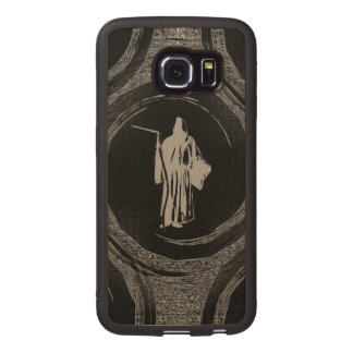 Tiled Grim Reaper Wood Phone Case
