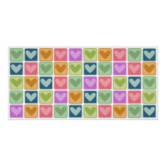 Tiled Hearts Wall Art