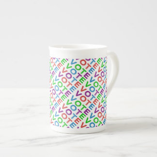 Tiled Multi-colored VOTE Tea Cup
