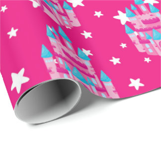 Tiled Princess castle party girls tiled wrap Wrapping Paper