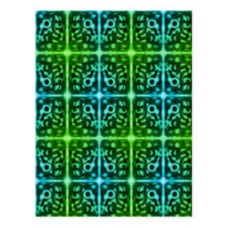Tiled Surprised Monster Design Postcard