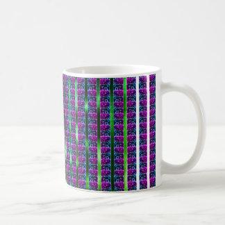 Tiled Surprised Monster Pattern Mug