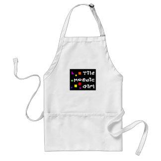 TileMosaicGirl apron