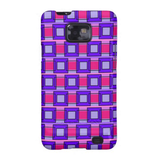 Tiles and Rectangles Patterns Samsung Galaxy SII Covers