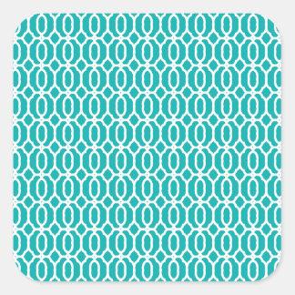 tiles Beautiful fine style fame fashion love moder Square Sticker