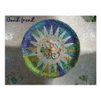 Tiles - Gaudi, friend! - Customized Postcard