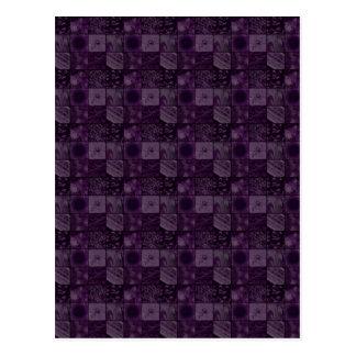 Tiles in Purple Postcard