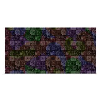 Tiles in Rainbow Custom Photo Card