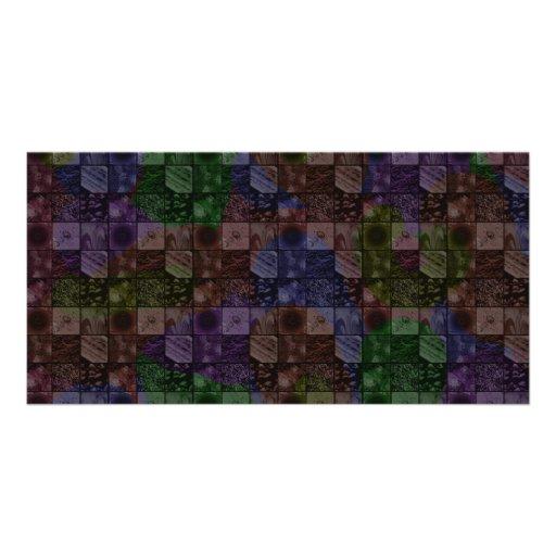 Tiles in Rainbow Photo Card Template