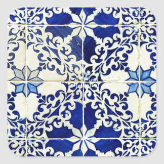Tiles, Portuguese Tiles Square Sticker