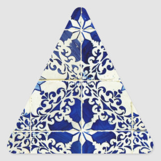 Tiles, Portuguese Tiles Triangle Sticker