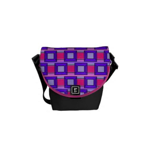 Tiles & Rectangles Patterns Mini Messenger bag