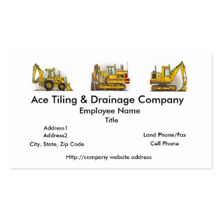Tiling Machine Construction Business Cards