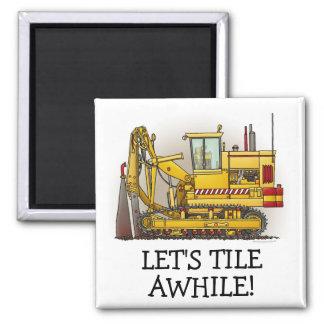 Tiling Machine Square Magnet