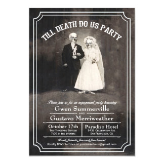 Till Death Do Us Engagement Party Invitations